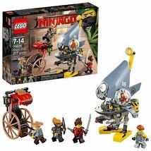 Lego The Ninjago Movie Piranha Attack 70629 w/Shark Army Thug, Misako, Kai, Ray - $118.79