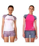 Women Rash Guard Swimsuit Ladies Swimwear Swim Shirt Vest Two Piece Bath... - $34.95