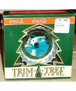 Coca Cola Trim-a-Tree Bottle Cap Polar Bear Ornament - $5.50