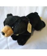 "Aurora Miyoni Black Bear Laying Stuffed Plush 11"" NWT - $18.80"