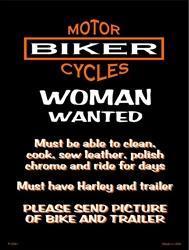 Harley women tin sign
