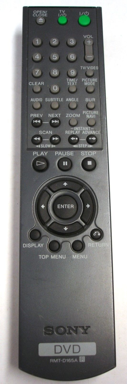 Genuine SONY RMT-D165A DVD Remote Control For DVP-NS501 NS501P NS501PS Tested