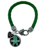 Holly Road Celiac Disease Awareness Green Leather Bracelet Jewelry Choos... - $19.79