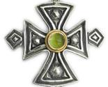 02005053 gerochristo 5053 silver gold peridot coptic cross 1 thumb155 crop