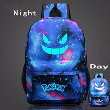 Pokemon GO Gengar Poison Type Luminous Galaxy School Bag Backpack - $33.00