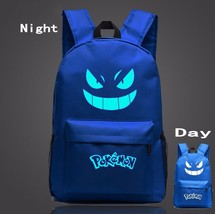 Pokemon GO Gengar Poison Type Dark Blue Shade School Bag Backpack - $33.00
