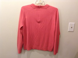 Pretty White Stag Big Plain Pink Long Sleeve Sweater image 4