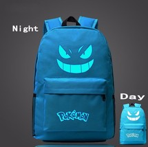 Pokemon GO Gengar Poison Type Light Blue Shade School Bag Backpack - $33.00