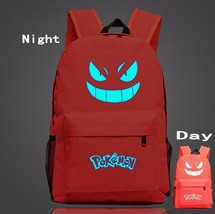 Pokemon GO Gengar Poison Type Red Shade School Bag Backpack - $33.00