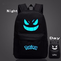Pokemon GO Gengar Poison Type Black Shade School Bag Backpack - $33.00
