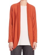 NWT EILEEN FISHER Wool Jersey Oval Cardigan - $92.15