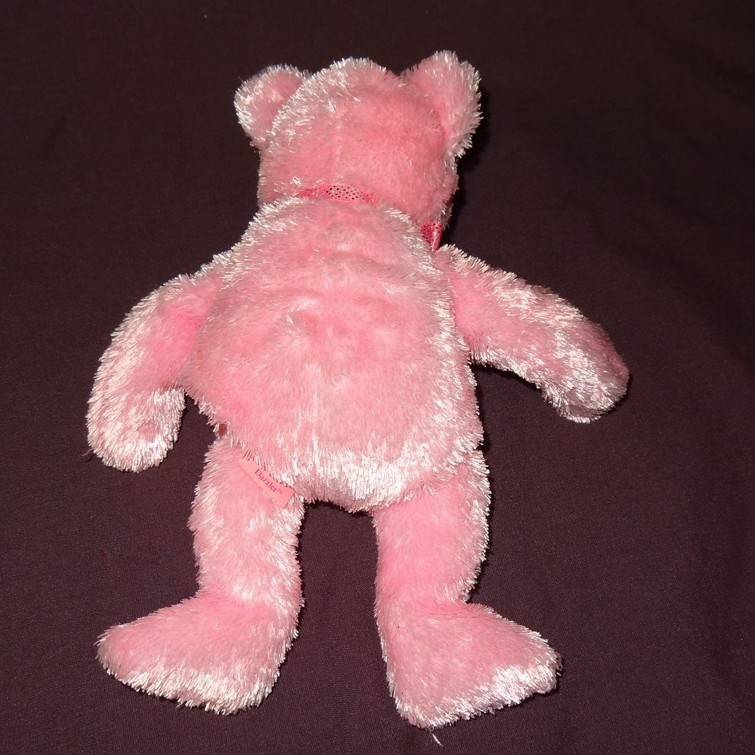 Dazzler Bear Pink Ty Beanie Baby Plush Stuffed Animal Toy 2004 with Tag