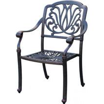 Patio conversation set cast aluminum Furniture Propane fire pit table 5 pc image 5