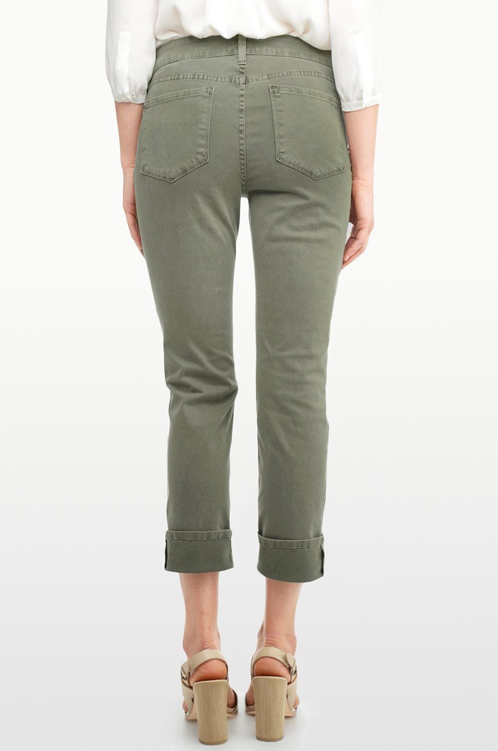NWT New NYDJ Womens 6P 6 Petite Not Your Daughters Jeans USA Dark Green Army