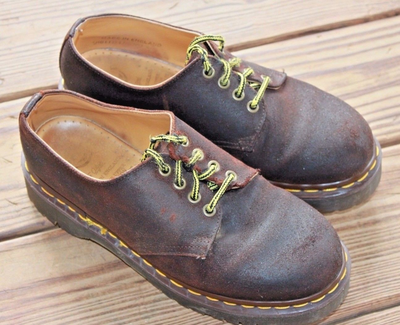 Dr. Doc Marten UK 6 US 8 The Original Brown Leather Oxford England Men's Shoes