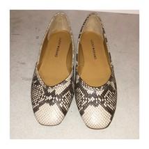 Lucky Brand Ameena Ballet Flat Snakeskin Grey Size 7 new no box - $47.52