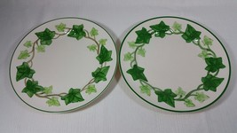 Vintage Franciscan Ivy Earthenware Two (2) Dinner Plates Made in the USA - $59.99