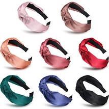 8 Pieces Silk Headbands Twist Knot Headband Cross Wide Hairbands Elastic... - $17.16