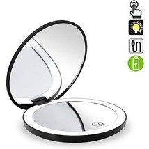 Travel Lighted Makeup Mirror,7X/1X Magnification Compact Vanity Mirror w... - $29.19