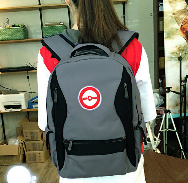 Pokemon go pokemon trainers ball big useful school bag backpack 6