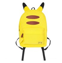 Pokemon GO Pikachu Back Tail Ears Cute Yellow School Bag Backpack - $56.99