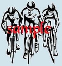 Cyclists Single Colour PDF Cross Stitch Chart - $8.00