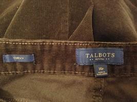 Ladies Talbots Curvy Dark Chocolate Brown Corduroy Pants Jeans Sz 14P image 5