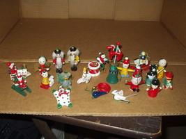 Lot of 21 Miniature Wooden Christmas Ornaments(Nutcracker,Santa Claus,Cl... - $8.59