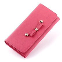 Genuine Saffiano Leather Women Clutch Bag Ladies Long Wallet Coin Purse - $26.50