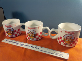 3 Campbell's Soup Cups Mugs Houston Harvest 2000 Kids on Fence ..  (C-4) - $20.46