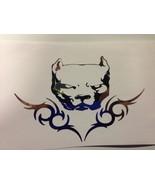 pit bull sticker pitbull american bully decal sticker CHROME *B163* - $5.08