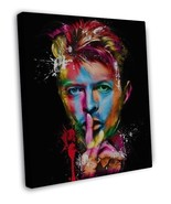 DAVID BOWIE COLOURFUL PSYCHEDELIC ART IMAGE 20x16 FRAMED CANVAS Print - $29.96