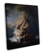 REMBRANDT CHRIST IN THE STORM FINE ART 20x16 FRAMED CANVAS Print - $29.96
