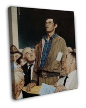 NORMAN ROCKWELL FOUR FREEDOMS FREEDOM OF SPEECH FINE ART 20x16 FRAMED CA... - $39.95