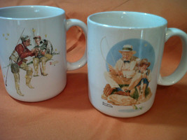 SET OF 2 VTG 1987 NORMAN ROCKWELL MUSEUM COLLECTIONS MUGS-(DD) - $12.41