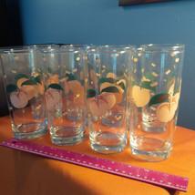 "Anchor Hocking Glass set 8 Tumblers 6 1/8"" peaches  1987 Vintage 16 oz. ... - $76.44"