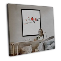 Birds and Flower Minimalist Art Canvas Picture Chinese Style Decor 20x16... - $39.95