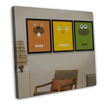 Cute Animal Minimalist Art Canvas Children Room Decor Fog Chicken 20x16 ... - $39.95