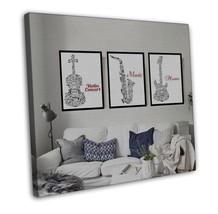 Musical Instrument Minimalist Art Canvas Modern... - $39.95