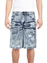 Brooklyn Xpress Men's Relaxed Fit Ripped Distressed Destroyed Jean Denim Shorts image 8