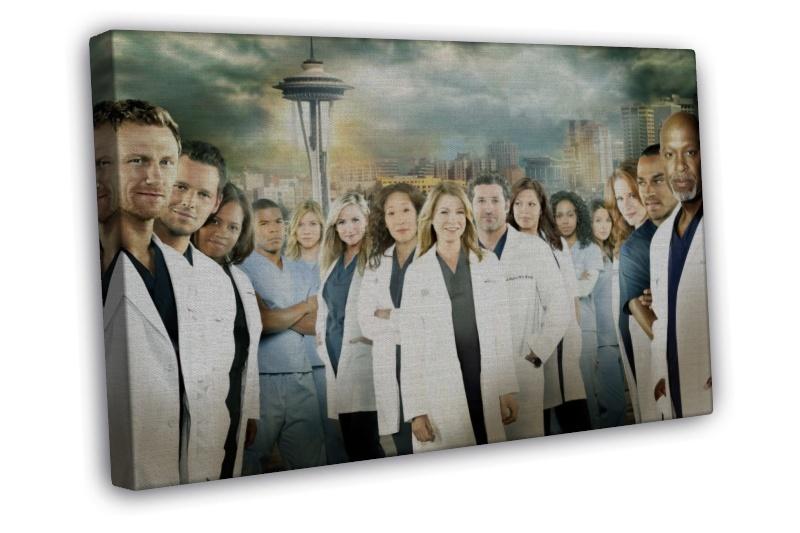 Greys Anatomy Wall Decor : Greys anatomy tv show wall decor framed canvas print