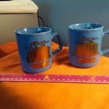 Longaberger Blue Mugs / Cups ~ Set Of 2 (P) - $39.08