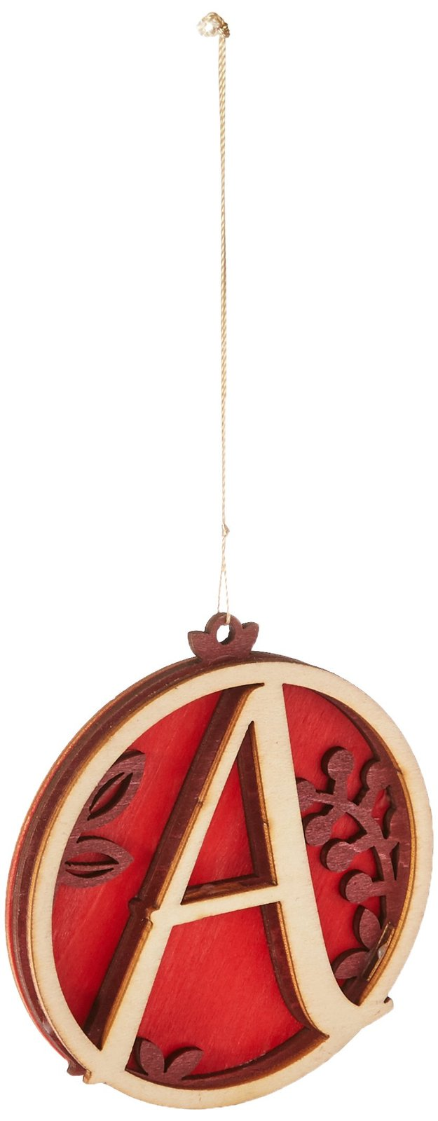 Enesco Flourish Letter A Monogramed Ornament, 3.2-Inch