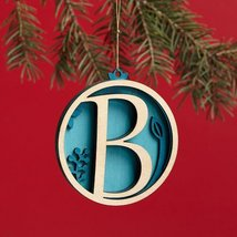 Enesco Flourish Letter B Monogramed Ornament, 3.2-Inch