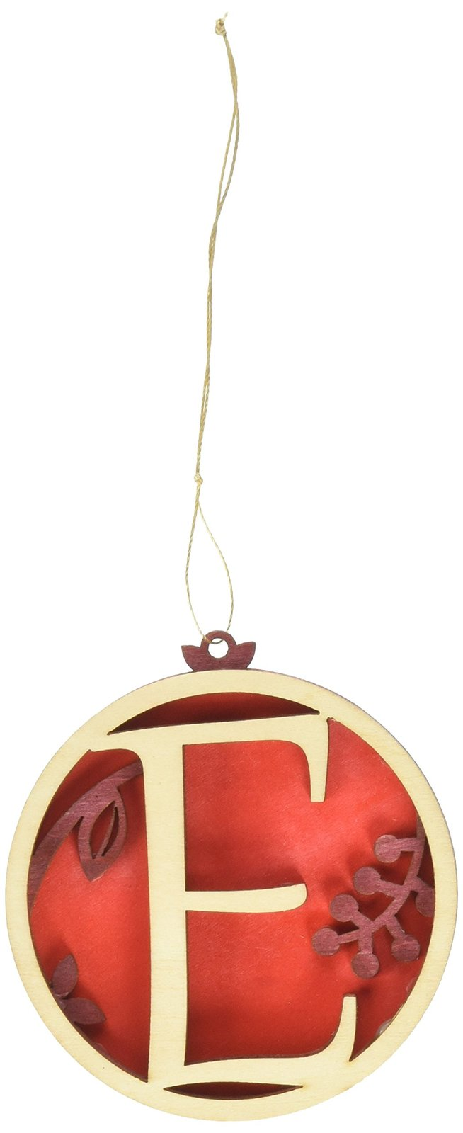 Enesco Flourish Letter E Monogramed Ornament, 3.2-Inch