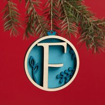 Enesco Flourish Letter F Monogramed Ornament, 3.2-Inch