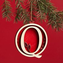 Enesco Flourish Letter Q Monogramed Ornament, 3.2-Inch