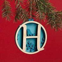 Enesco Flourish Letter H Monogramed Ornament, 3.2-Inch