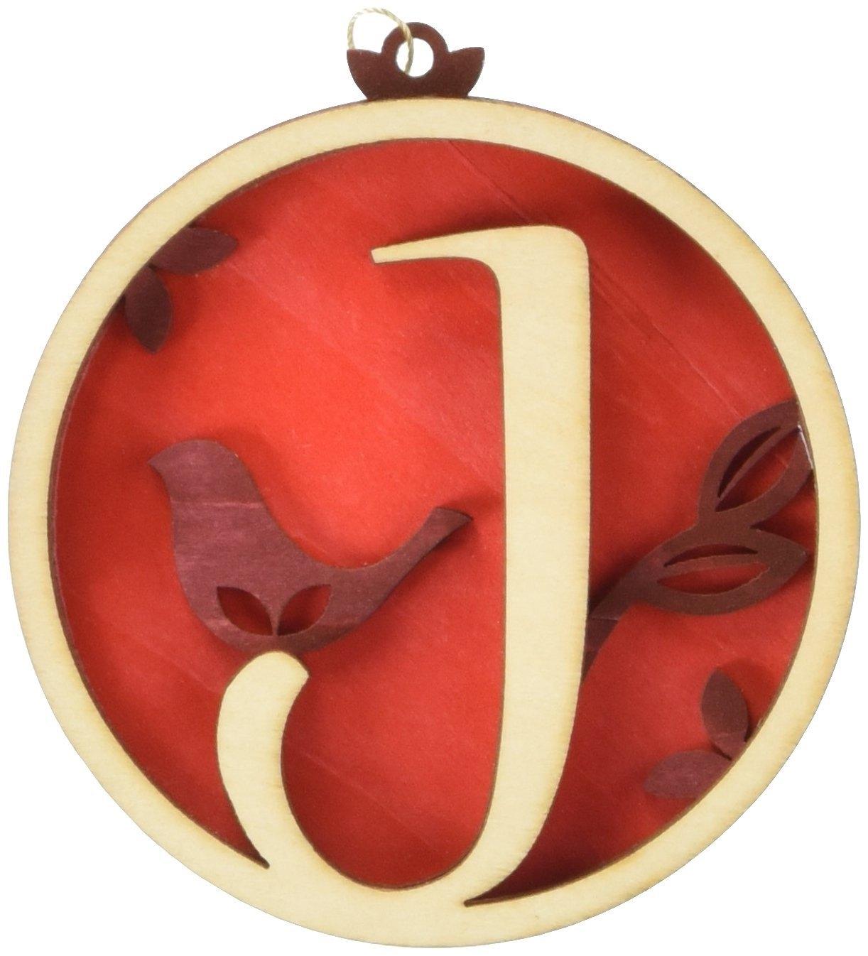 Enesco Flourish Letter J Monogramed Ornament, 3.2-Inch