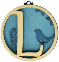 Enesco Flourish Letter L Monogramed Ornament, 3.2-Inch